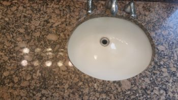 Bathroom granite counter and vanity
