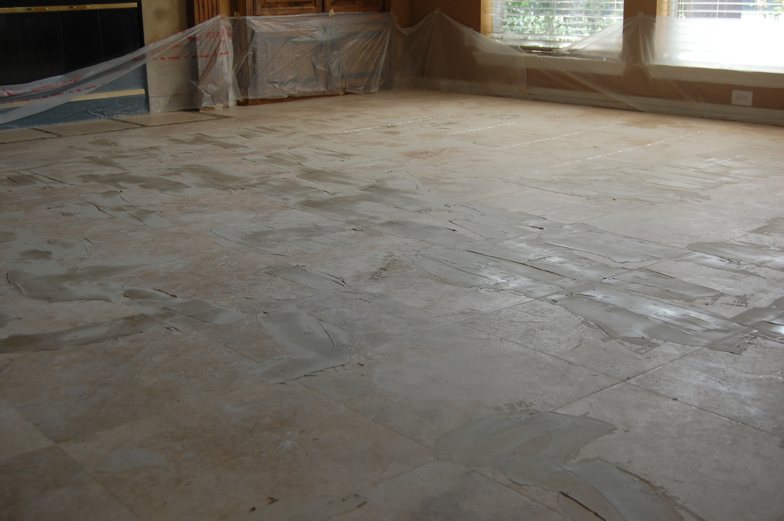 grinding travertine lippage in Dallas