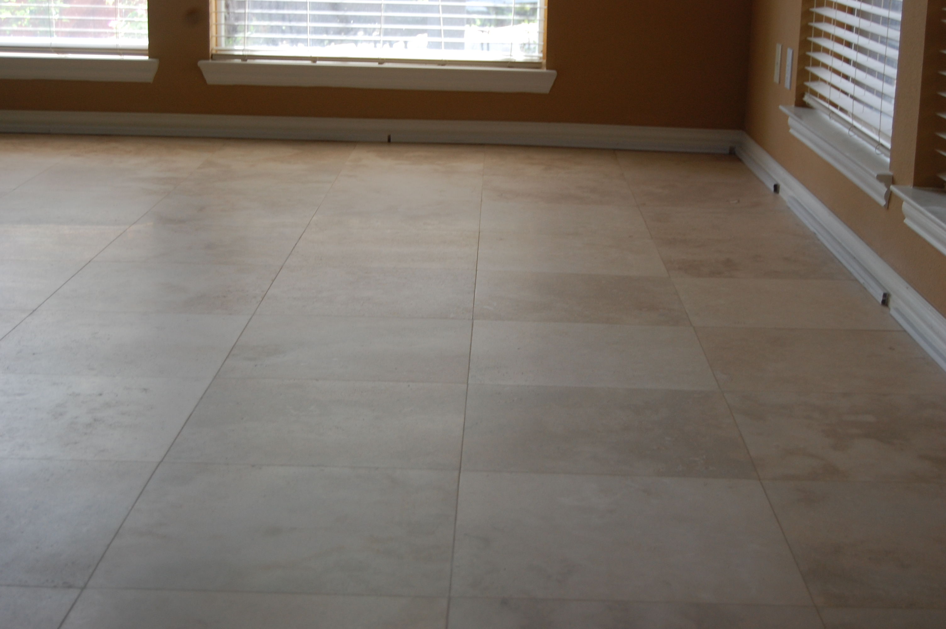 travertine lippage removed in Dallas, TX