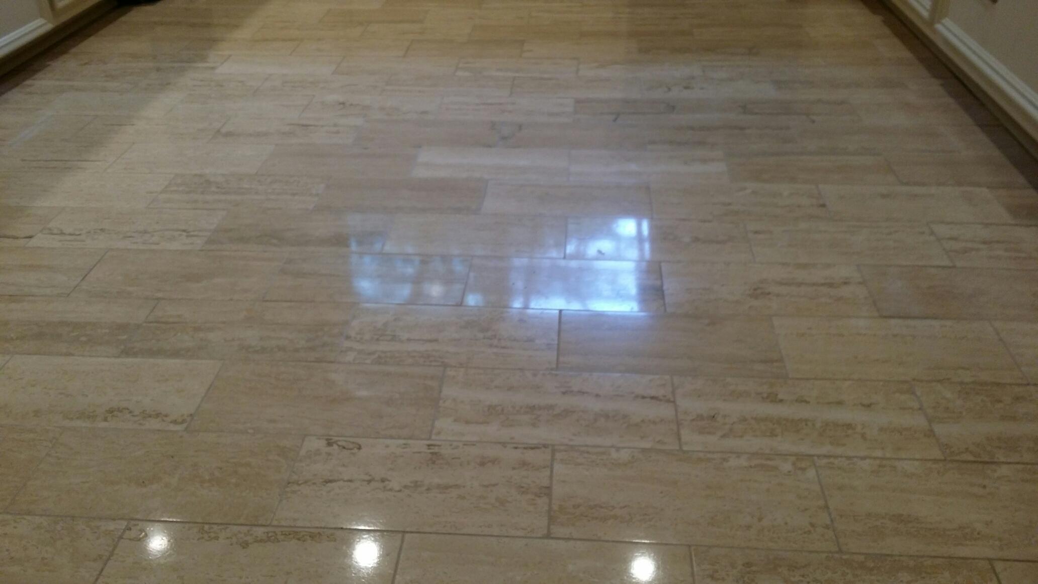 travertine tile cleaned Richardson
