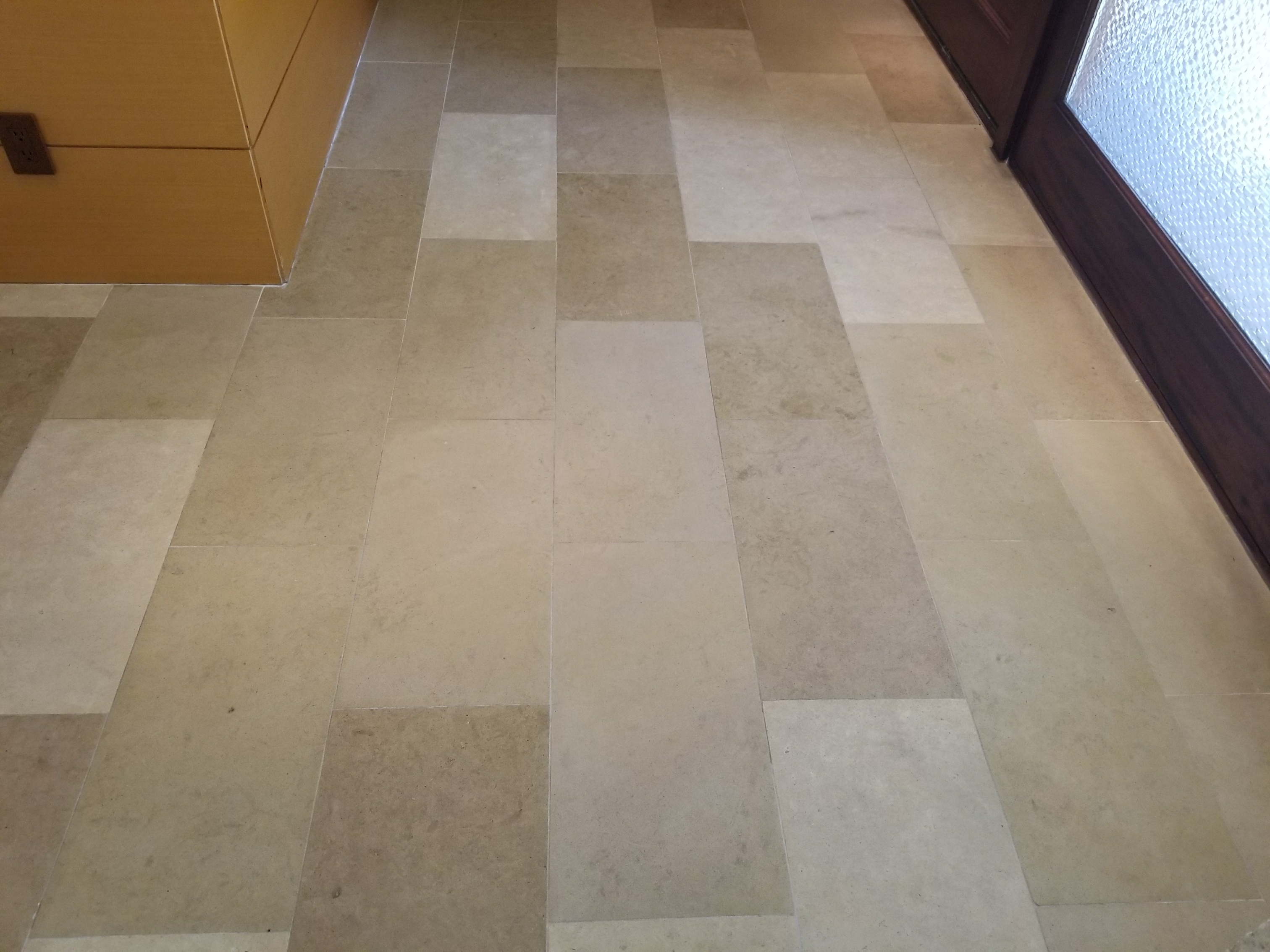 Cleaning Polishing Limestone Floor Dallas