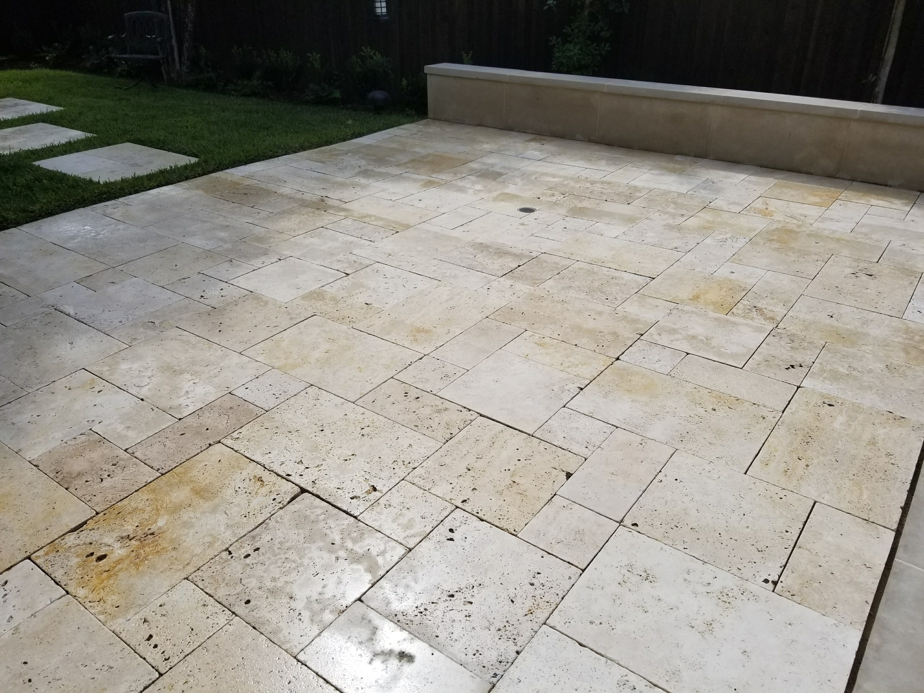 sealing outside travertine tile