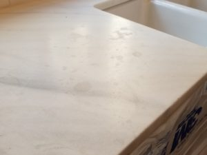 Acidic Etching On Marble Countertop