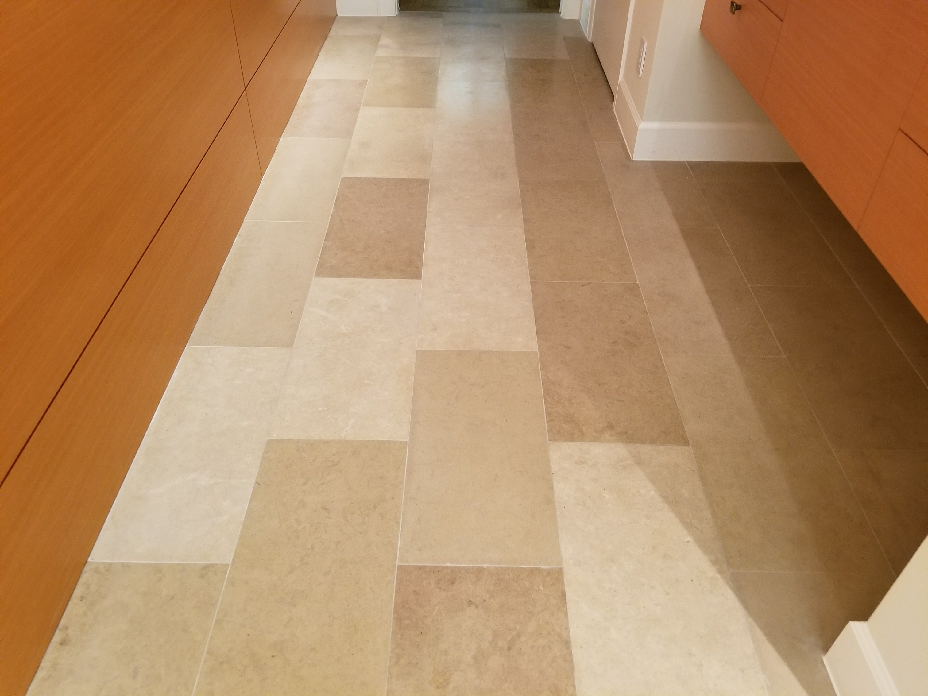 Cleaning Honing And Sealing Limestone Floor Dallas Tx